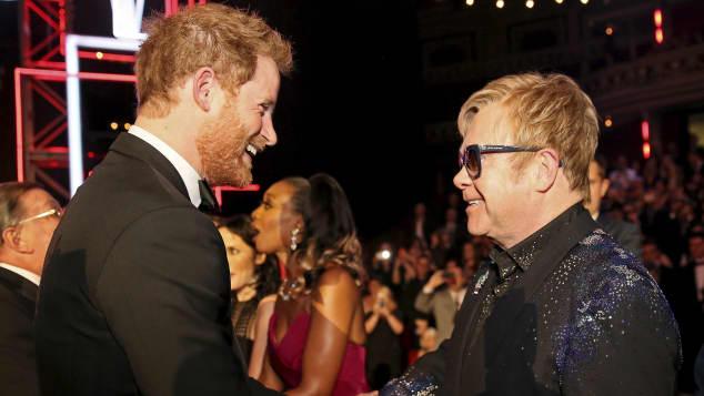 Prinz Harry und Elton John scheinen sich gut zu verstehen