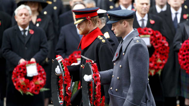 Prinz Harry Prinz William Remembrance Sunday