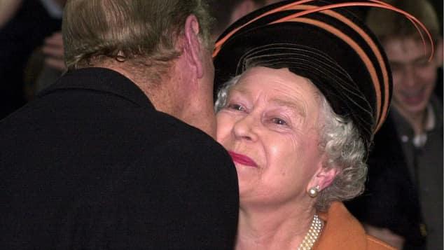Prinz Philip und Königin Elizabeth II. bei den Silvesterfeierlichkeiten