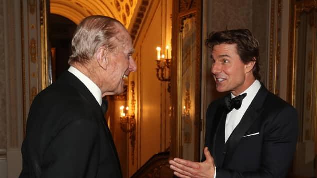 Prinz Philip und Tom Cruise beim gemeinsamen Dinner
