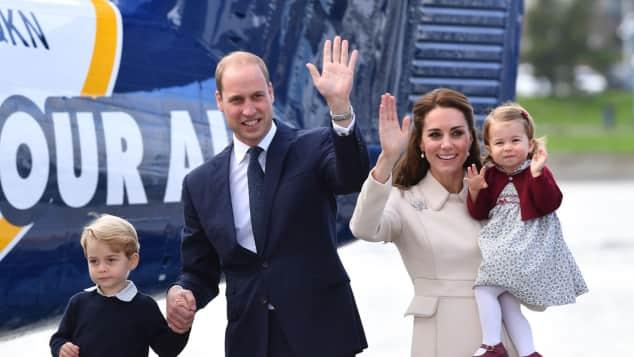 Prinz William, Herzogin Catherine, Prinz George und Prinzessin Charlotte verabschieden sich von Kanada