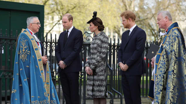 Prinz William, Herzogin Catherine  und Prinz Harry Gedenkgottesdienst Terroranschlag