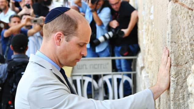Prinz William in Jerusalem