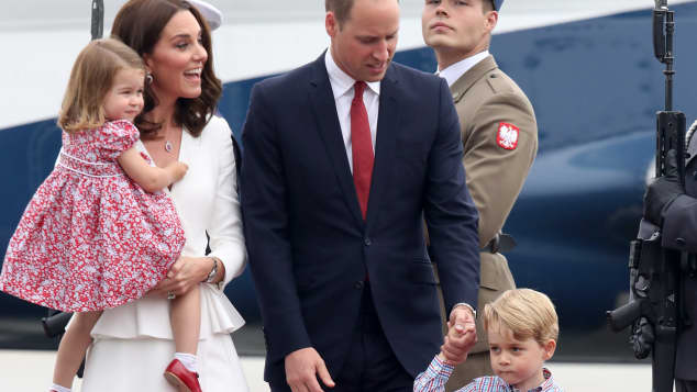 Prinz William Kate Prinz George Prinzessin Charlotte Polen
