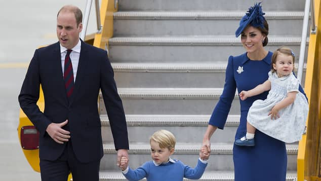 Prinz William, Prinz George, Herzogin Catherine und Prinzessin Charlotte kommen in Kanada an