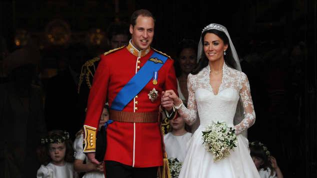 Prinz William und Herzogin Kate bei ihrer Hochzeit