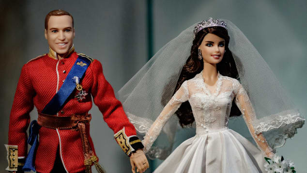 Prinz William und Herzogin Kate als Barbie-Puppen