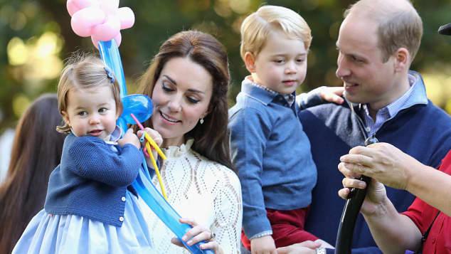 Prinzessin Charlotte, Herzogin Catherine, Prinz George und Prinz William in Kanada