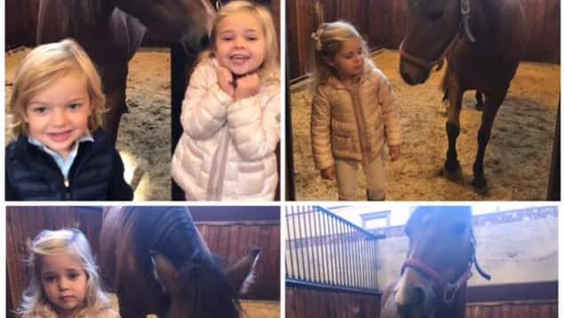 Prinzessin Leonore und Prinz Nicolas mit Pony Heidi
