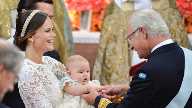 Prinzessin Sofia, König Carl Gustaf Prinz Alexander Taufe