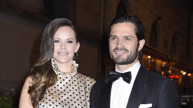 Prinzessin Sofia an der Seite ihres Mannes Prinz Carl Philip
