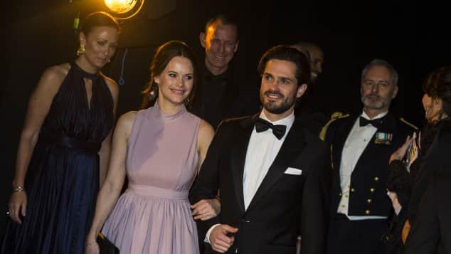 """Prinzessin Sofia und Prinz Carl Philip von Schweden bei den """"Svenska idrottsgalan"""" in Stockholm 2018, Sports-Award-Gala, Schwedische Royals"""