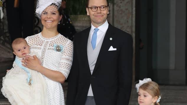 Royale Taufe: Prinzessin Victoria, Prinz Daniel, Prinzessin Estelle und Prinz Oscar
