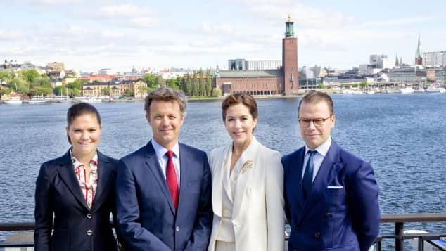 Dänemark Schweden Besuch Royals