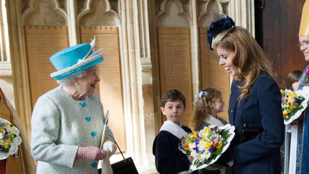 Queen Elizabeth Enkelin Prinzessin Beatrice of York