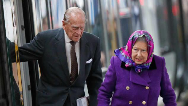 Königin Elisabeth II. und Prinz Philip Sandringham