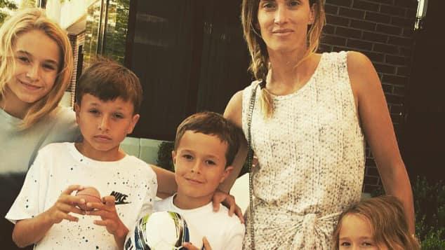 Mark Wahlbergs Frau Rheau Durham mit den gemeinsamen Kindern