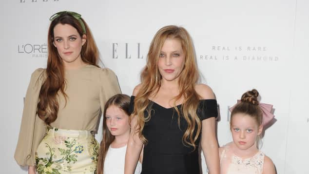 Riley Keough, Lisa Marie Presley, Zwillinge Harper und Finley