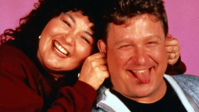 "Roseanne Barr und John Goodman in ""Roseanne"""