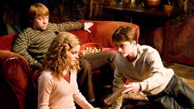 "Die ""Harry Potter""-Stars Rupert Grint, Emma Watson, Daniel Radcliffe, Ron Weasley, Hermine Granger, Harry Potter"