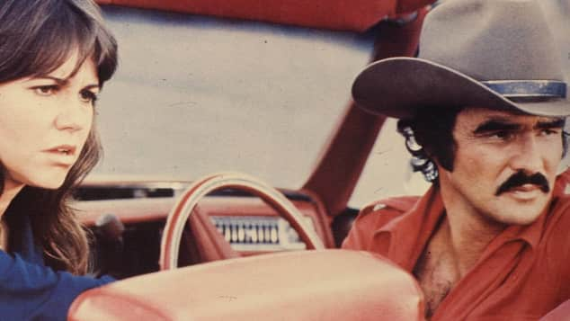 """Sally Field and Burt Reynolds in """"Smokey and the Bandit"""""""
