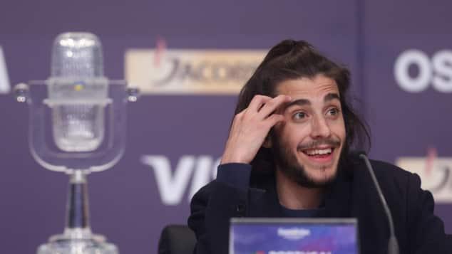 Der ESC-2017-Gewinner Salvador Sobral bei einer Pressekonferenz