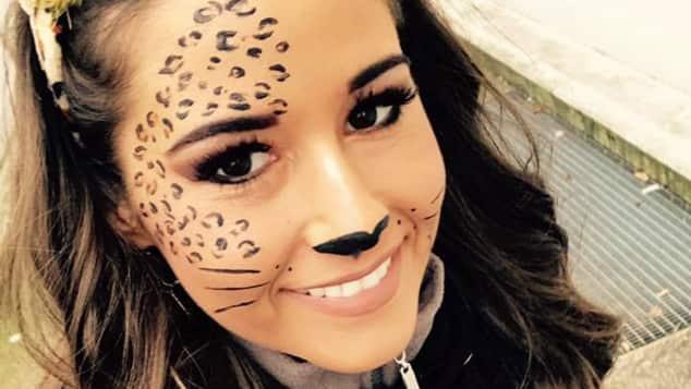 Sarah Lombardi als frecher Leopard