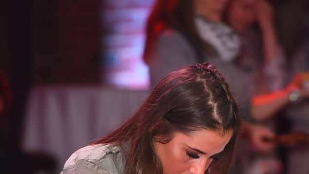 Sarah Lombardi beim großen RTL-II-Promi-Curling-Abend
