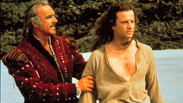 "Jean Connery und Christopher Lambert; ""Highlander"""