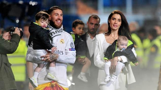 Sergio Ramos und seine Familie beim Champions League Finale