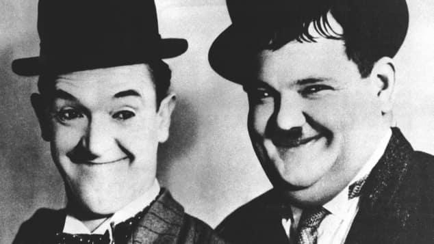 """Das legendäre Komiker-Duo Stan Laurel und Oliver Hardy alias """"Dick und Doof"""" oder auch """"Stan und Ollie"""""""
