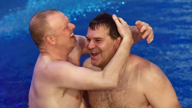 Stefan Raab und Elton hatten viel Spaß zusammen