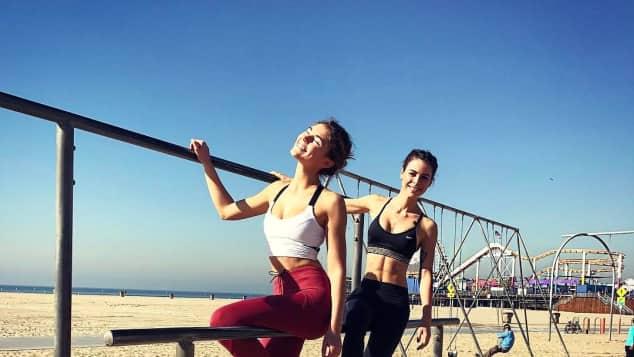 Stefanie Giesinger und Lena Meyer-Landrut sind super sportlich Topmodel Sängerin Los Angeles