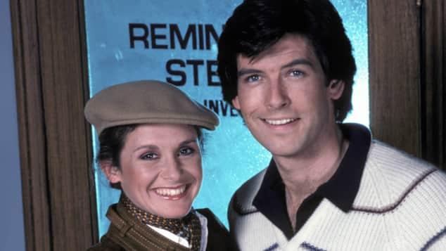 """Das macht sie heute Stephanie Zimbalist und Pierce Brosnan in """"Remington Steele"""""""