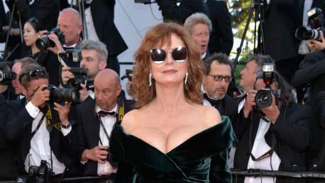 Susan Sarandon, 70. Filmfestspiele Cannes, Kleid von Alberta Ferretti
