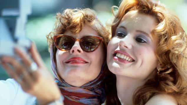 """""""Thelma und Louise""""-Darstellerinnen Susan Saradon und Geena Davis"""