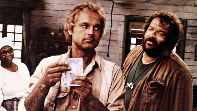 """Terence Hill und Bud Spencer in """"Das Krokodil und sein Nilpferd"""""""