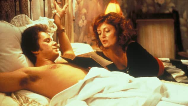 "Tim Robbins and Susan Sarandon in ""Bull Durham"""