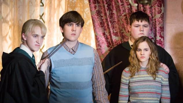 """Die """"Harry Potter""""-Stars Tom Felton, Matthew Lewis, Jamie Waylett und Emma Watson"""