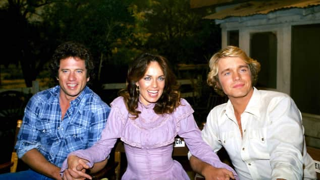 """""""The Dukes of Hazzard's"""" Tom Wopat, Catherine Bach and John Schneider"""