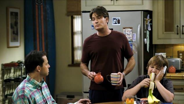 Zweieinhalb Männer besetzten Jon Cryer, Charlie Sheen und Angus T. Jones.