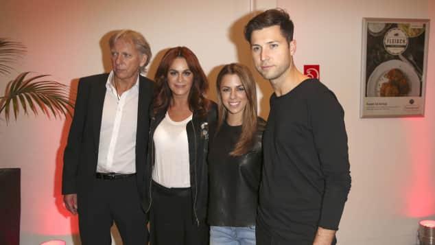 Andrea Berg und Vanessa Mai mit ihren Männern