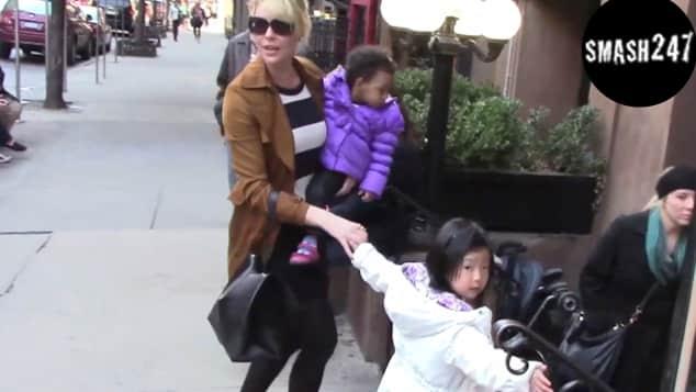 Katherine Heigl mit Adalaide und Naleigh das erste leibliche Baby Mutter von drei Kindern Grey's Anatomy Schauspielerin