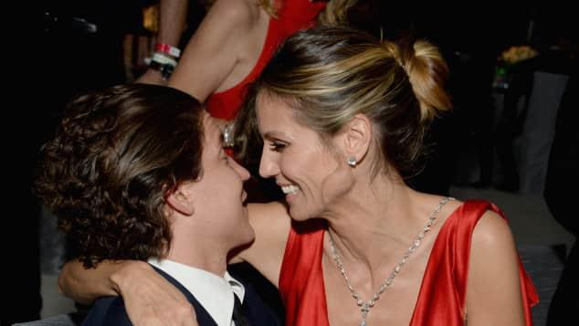 Vito Schnabel und Heidi Klum bei Elton Johns Oscar-Party