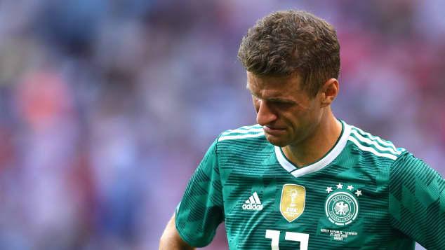 Thomas Müller nach dem Spiel gegen Südkorea bei der WM 2018