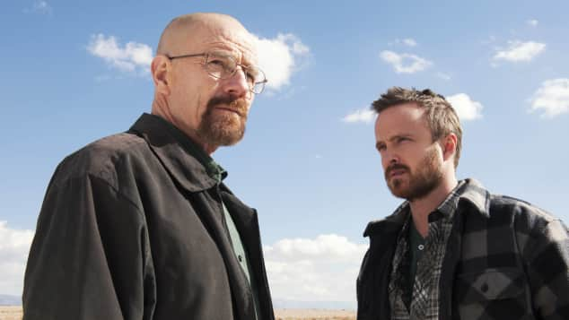 "Bryan Craston und Aaron Paul in der Kultserie ""Breaking Bad"", Walter White, Jesse Pinkman"