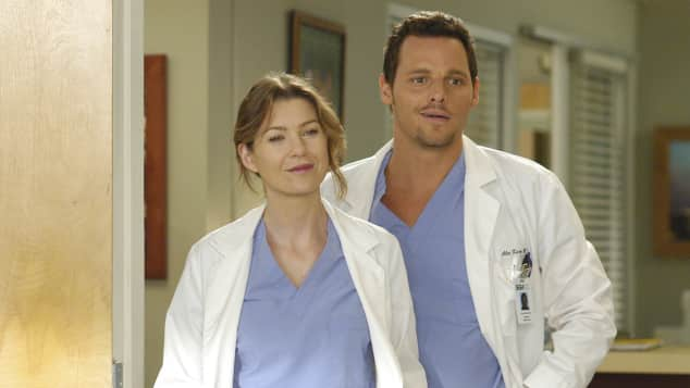 """""""Meredith Grey"""" und """"Alex Kurev"""", gespielt von Ellen Pompeo und Justin Chambers"""