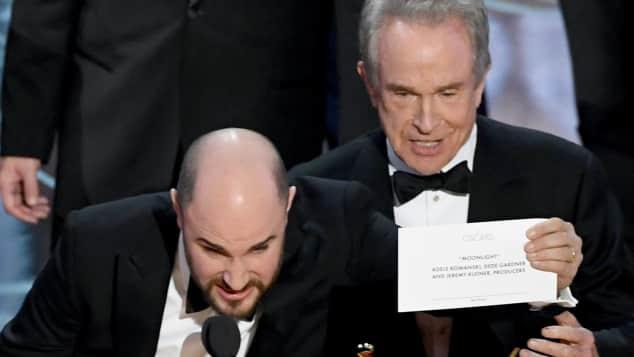 """""""Moonlight"""" gewinnt Oscar als Bester Film. Zunächst wir fälschlicherweise """"La La Land"""" genannt"""