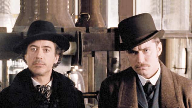 "Robert Downey Jr. und Jude Law in ""Sherlock Holmes"""