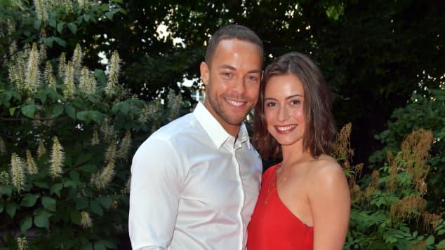 Andrej Mangold und Jennifer Lange Paar Glücklich Hochzeit